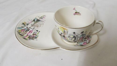 Vintage Alfred Meakin My Fair Lady Sandwich Plate and Cup