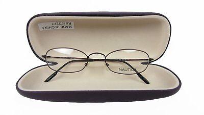 Nautica  N7075 086 Oval Eyeglasses Matt Bronze Floor Display Frames with Case