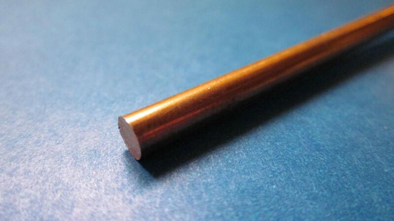 """.125"""" (1/8) x 12"""" Copper Rod, C110 Round Bar, 110"""