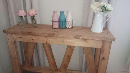New Handmade 1 2m Rustic Beach House Console Hall Table