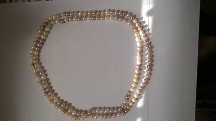 60 inch multi color south sea pearl necklace