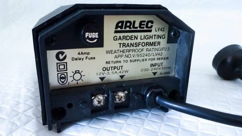 Arlec Garden Light Transformer 12v Hpm Auto Sunset Timer 42w