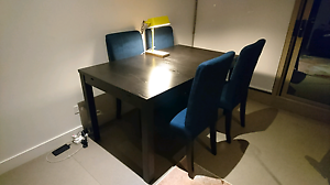 IKEA BJURSTA dining table with chairs x4 Melbourne CBD Melbourne City Preview