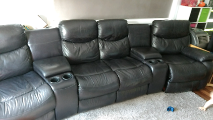 urgent theatre leather lounge with end rockers