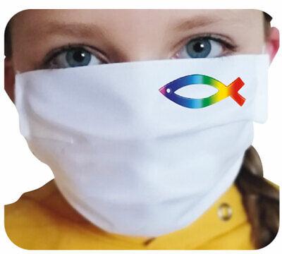 Mund-Nasen-Maske - Regenbogenfisch (*NEU*) - Schutz gegen Infektionen