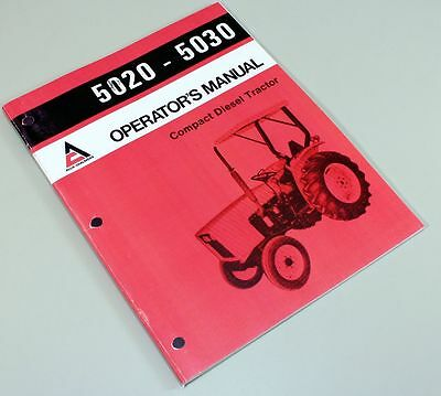 Allis Chalmers 5020 5030 Compact Tractor Owners Operators Manual Maintenance