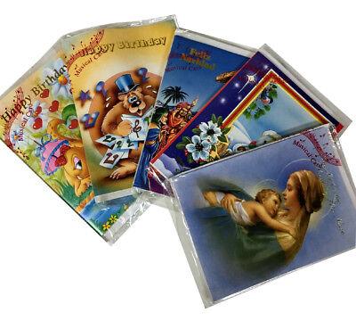 20000x Assorted Musical Greeting Cards Birthday Christmas English Spanish Bulk