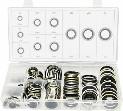 Swordfish 32241 - 150pc Automotive Self-Centered Bonded Seal / Gasket Assortment