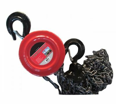 Chain Hoist Block and Tackle 2 Ton 4000lb Winch Capacity Engine Lift Puller Fall Block And Tackle Hoist