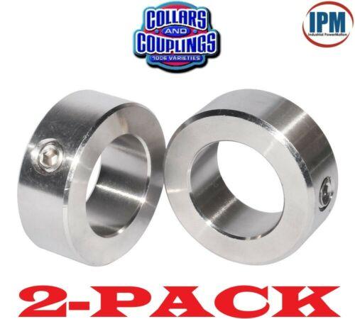 "2-PACK!  NEW!  7/16"" ID Set Screw Shaft Collar, 1-PC Steel Zinc Plated SC43Z"