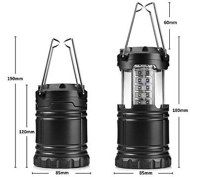 Portable 30LED Power Hand Crank Solar Camping Light Rechargeable Outdoor Lantern