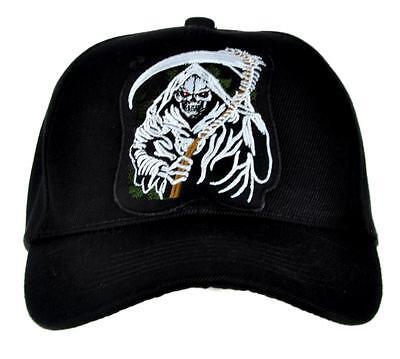 Grim Reaper Death W  Scythe Hat Baseball Cap Heavy Metal Sons Of Anarchy Gift