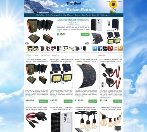 Solar Panels Store - Amazon, eBay, ClickBank Affiliate Website - Auto UPDATE