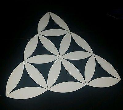 sacred geometry triangle alien car vinyl sticker spiral australian