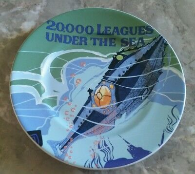 """New Disney Parks 20,000 Leagues Under The Sea 7"""" Attraction Poster Dessert Plate"""