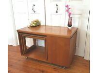 Vintage Mcintosh Teak Tv Stand Nest Tables Mid Century