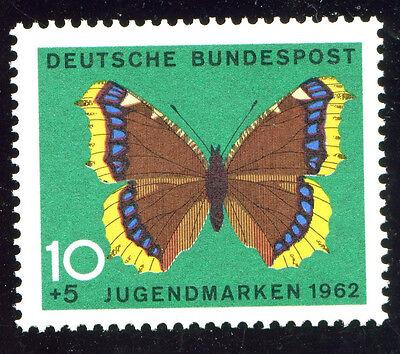 Bund / BRD Mi 377 Passerverschiebung des Schmetterlings (Zufallsfund) - TOP