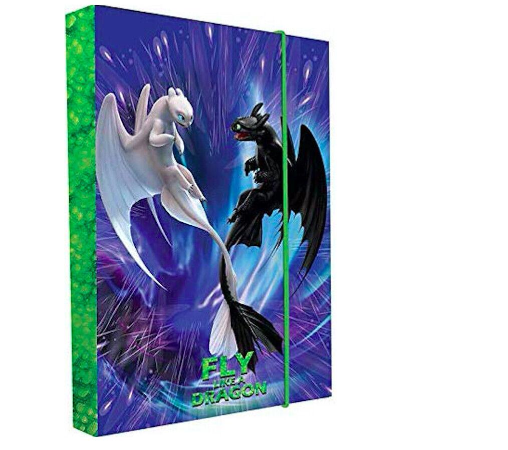 Dragons Drachen Ohnezahn HEFTBOX A4 BOX 35 x 25 cm HEFT MAPPE NEU