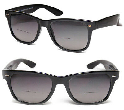 TWO PAIRS Bifocal Square Frame Full Lens Magnified Tinted Reading (Magnifying Sunglasses Not Bifocal)