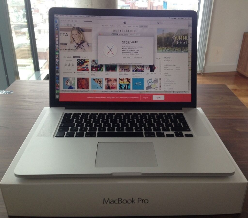 """MacBook Pro 15, 2015 model only had for a couple of monthsin Lisburn, County AntrimGumtree - Macbook Pro 15"""" from late 2015 perfect in every way. I7 2.2 Ghz CPU 16 Gb ram 256 SSD Perfect machine, only selling due to receiving another one from work. The machine comes complete with charger, magic mouse, magic keyboard"""