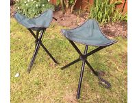 Folding camping stools, easily portable