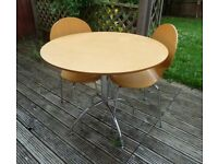 Vintage Chrome and Wood, Marks and Spencer dining set.