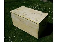 Large solid wood trunk chest blanket toy box