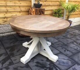 Reclaimed Timber, Circular Dining Table, New / Unused