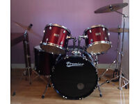 PREMIER OLYMPIC 5 PIECE DRUM KIT WITH CYMBALS, STOOL AND ALL HARDWARE