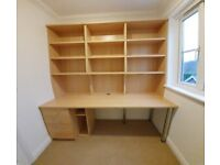 Home Office Desk and Storage Unit