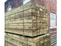 •New• Pressure Treated Wooden Railway Sleepers ~ Various Sizes 🌲