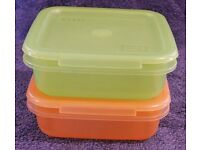Plastic Storage Containers with Lids - various sizes and Plastic Ice Cube Trays