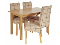 ***BRAND NEW TABLE AND 4 OR 6 UPHOLSTERED CHAIRS***