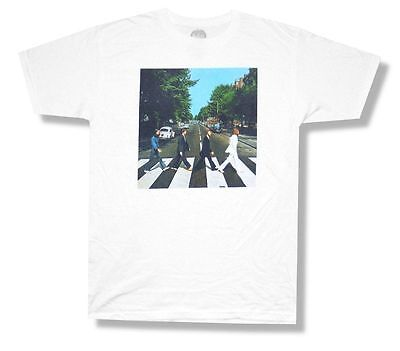 Image Adult T-shirt - Beatles Abbey Road Color Album Cover Image White T Shirt New Official