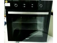 beko electric built in intergrated single fan assisted oven and grill