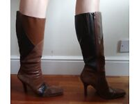 Brown leather/suede boots - Aldo size 40