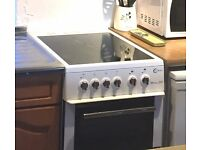 Reduced! Flavel Milano E50 cooker. Very good condition. Fan oven, grill, second oven, ceramic hob.