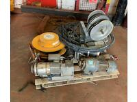 Job lot pallet power tools - 3 Motor Electric Window Cleaning Crane Hoist