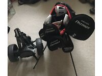Full set of Maxfli Patriot golf clubs inc bag and cart