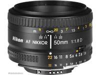 Nikon NIKKOR 50mm f1.8 AF lens