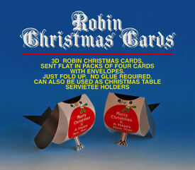POPUP ROBIN CHRISTMAS CARD (Pack of 4)