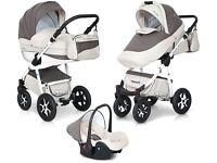 Pram / Pushchair / Buggy / Stroller / Car Seat / Travel System in Leather, EXPANDER MONDO ECCO