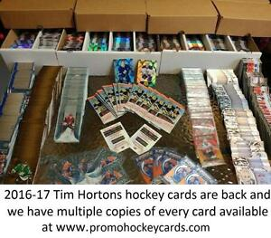 All 2016-17 Upper Deck Tim Hortons Hockey Card Singles Available FF CC PG GDA Franchise Force Clear Cut Pure Gold