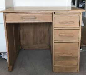 SOLID OAK VINTAGE DESK