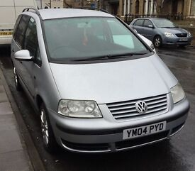 *LOOK*Silver VW sharan 1.9tdi 2004 BARGAIN 7 seat
