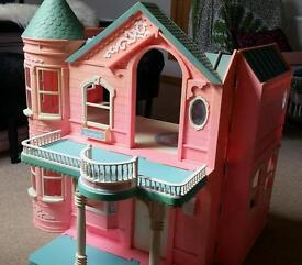 Barbie dolls house, stand alone with balcony and lift