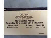 1 UFC 204 TICKET Less than face value