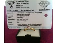 Diamond Solitaire Ring 0.87ct