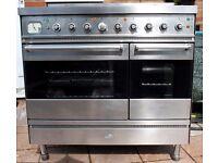 Britannia dual fuel range cooker 90cm, 4 gas hobs & central griddle