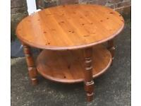 Round Pine Coffee Table